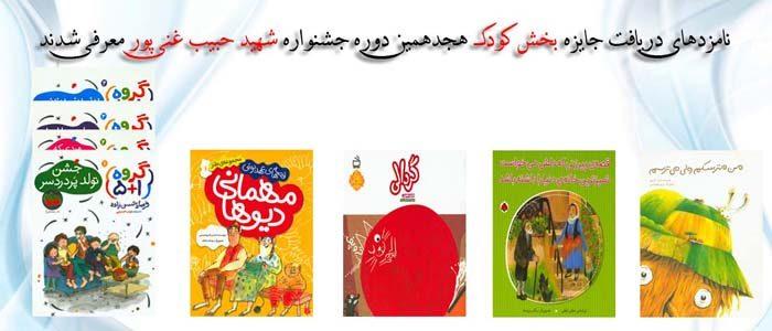 نامزدهای دریافت جایزه بخش کودک هجدهمین دوره جشنواره شهید حبیب غنیپور معرفی شدند
